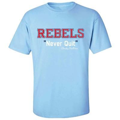 OLE MISS NEVER QUIT SS TEE LIGHT_BLUE