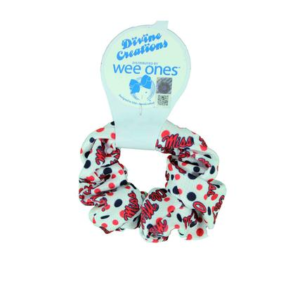 OLE  MISS SIGNATURE PRINT SCRUNCHIE