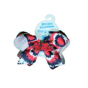 MEDIUM TIE DYE OLE MISS BOW