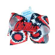 KING TIE DYE OLE MISS BOW