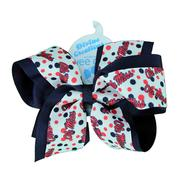 KING OVERLAY COLLEGE PRINT BOW