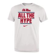 OLE MISS ALL THE HYPE DRI-FIT LEGEND 2.O YOUTH SS TEE