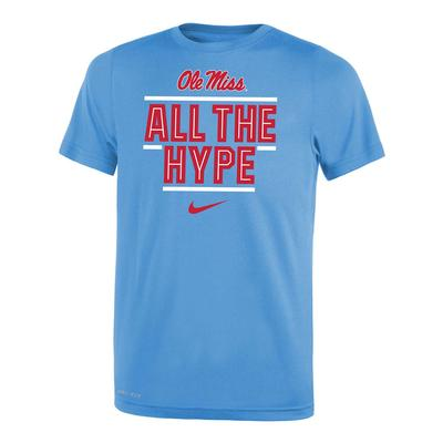OLE MISS ALL THE HYPE DRI-FIT LEGEND 2.O YOUTH SS TEE VALOR_BLUE