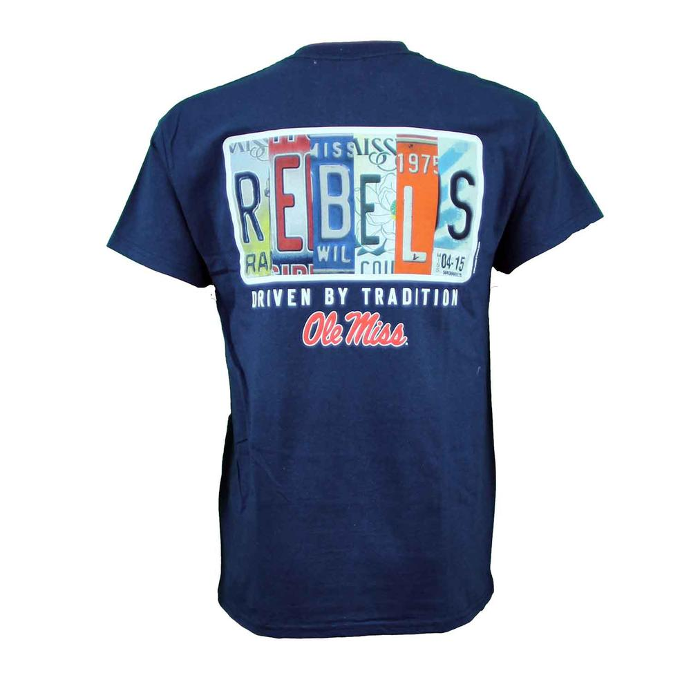 Ole Miss License Plate Ss Tee
