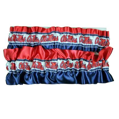 OLE MISS KEEPSAKE GARTER SET GIFT BOX