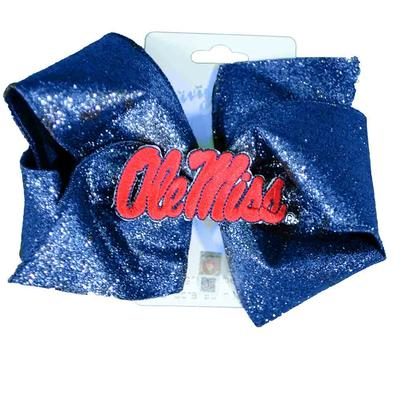 OLE MISS KING GLITZY OVERLAY BOW