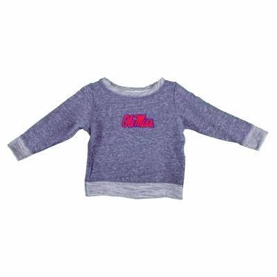OLE MISS FRENCH TERRY PULLOVER NAVY