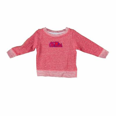 OLE MISS FRENCH TERRY PULLOVER RED