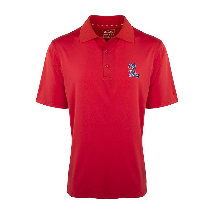 Ole Miss Drake Ss Performance Stretch Polo