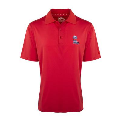 OLE MISS DRAKE SS PERFORMANCE STRETCH POLO RED