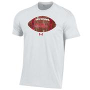 OLE MISS FOOTBALL UA PERFORMANCE COTTON SS TEE