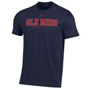 OLE MISS REBELS UA PERFORMANCE COTTON SS TEE