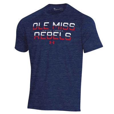 OLE MISS UA TECH NOVELTY SS TEE