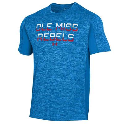 OLE MISS UA TECH PERFORMANCE MESH SS TEE
