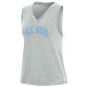 OLE MISS UA BREEZY V-NECK TANK