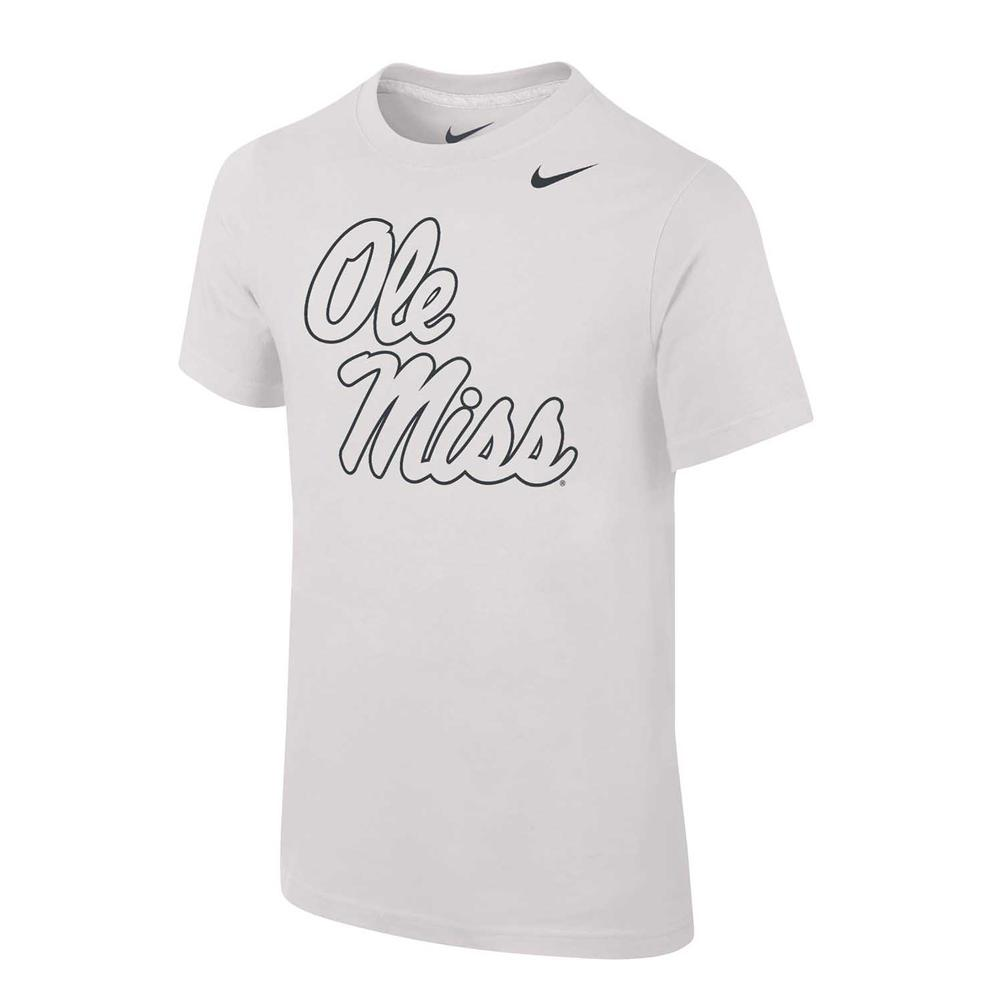 Ole Miss Silver Core Cotton Ss Tee