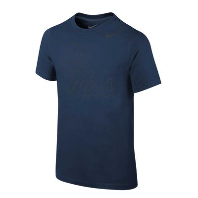 OLE MISS SILVER CORE COTTON SS TEE NAVY