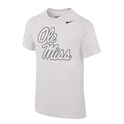 OLE MISS SILVER CORE COTTON SS TEE WHITE