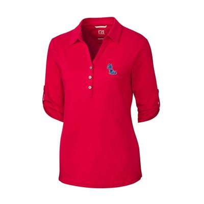 OM ES THRIVE POLO RED