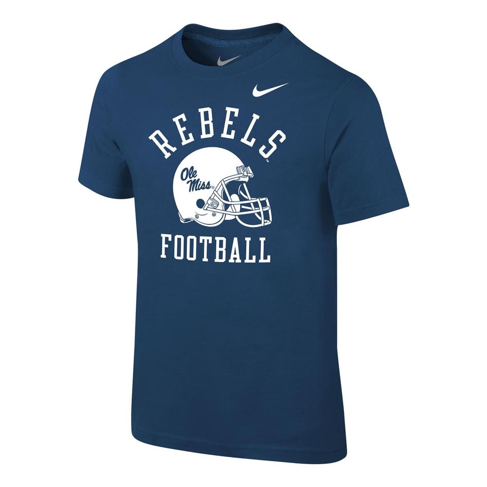 Ole Miss Football Preschool Core Cotton Ss Tee