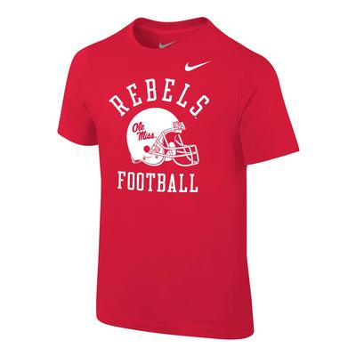 OLE MISS FOOTBALL PRESCHOOL CORE COTTON SS TEE UNIVERSITY_RED