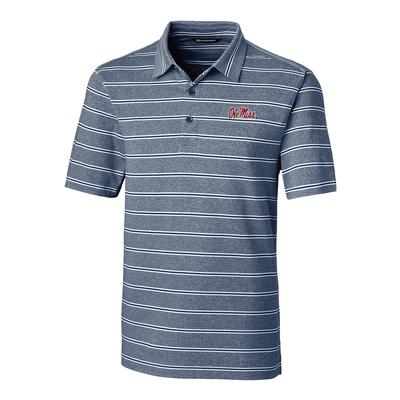 OLE MISS FORGE HEATHER STRIPE POLO