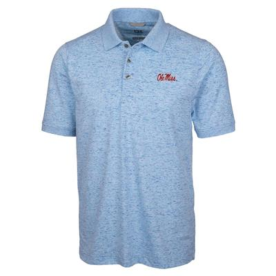 STRAIGHT OLE MISS ADVANTAGE SPACE DYE POLO ATLAS