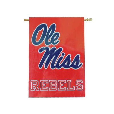 28X40 OLE MISS BANNER RED