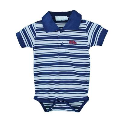OLE MISS POLYESTER STRIPE GOLF CREEPER NAVY