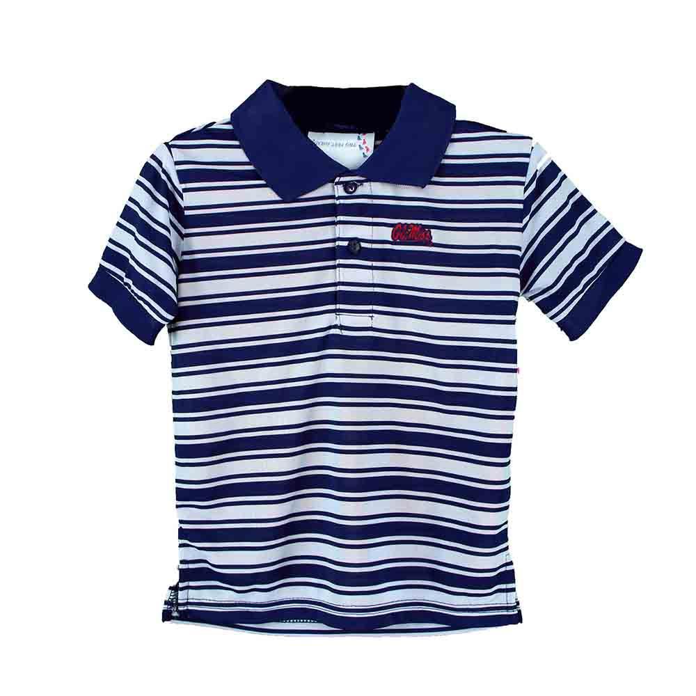 Ole Miss Toddler Polyester Stripe Golf Shirt
