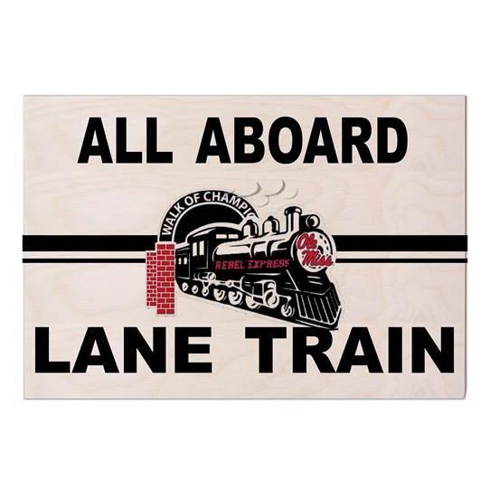 Rebel Express Lane Train Sign 9x13