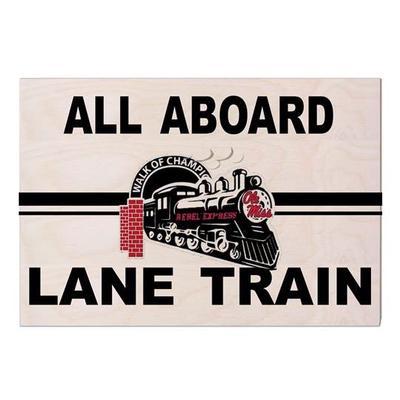 REBEL EXPRESS LANE TRAIN SIGN 9X13 NATURAL