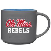 OLE MISS GRAPHITE CAFE MUG