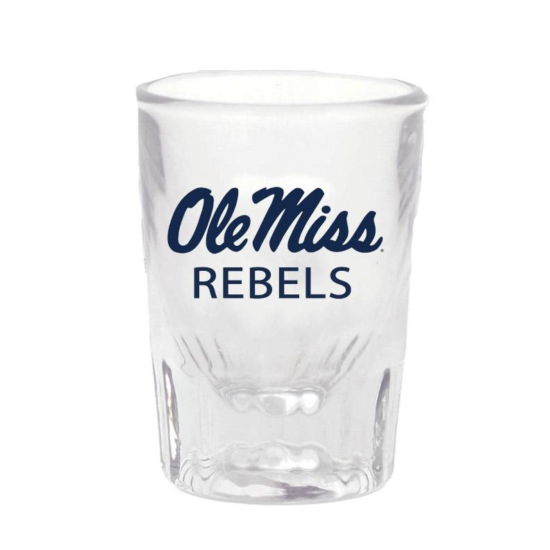 Ole Miss Heavy Bottom Tapered Shot Glass