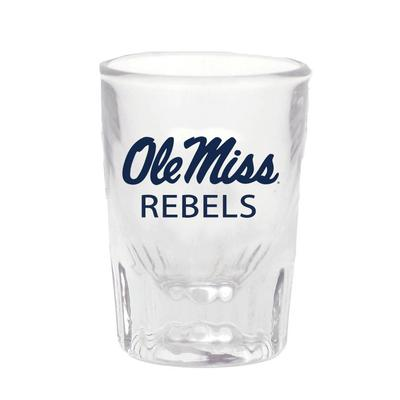 OLE MISS HEAVY BOTTOM TAPERED SHOT GLASS