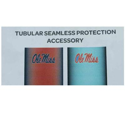 8 INCH OLE MISS HOTTY TODDY TWO TONE NECK GAITER FACE COVER