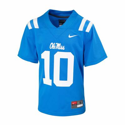 KIDS NO 10 OLE MISS FOOTBALL JERSESY
