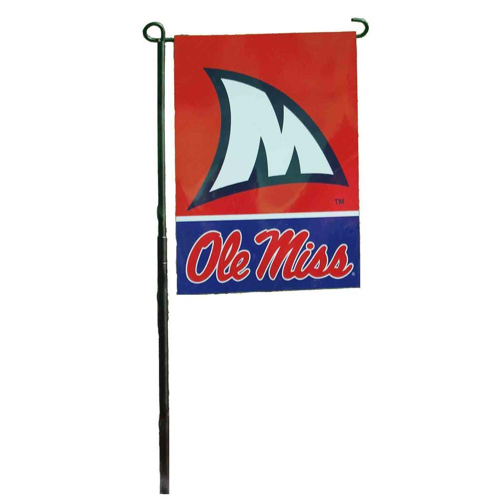 Ole Miss Shark Fin Garden Flag