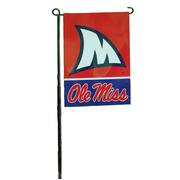 OLE MISS SHARK FIN GARDEN FLAG