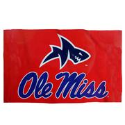3X5 OLE MISS SHARK FIN FLAG