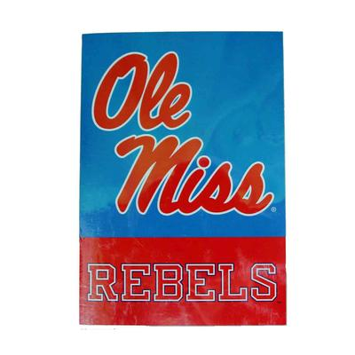 28X40 OLE MISS REBELS BANNER LIGHT_BLUE