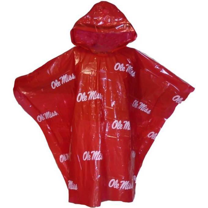 Adult Ole Miss Rain Ponchos