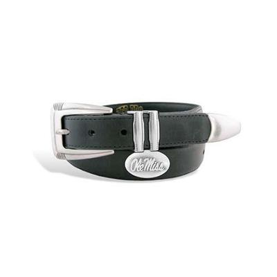 OLE MISS CONCHO TIP LEATHER BELT
