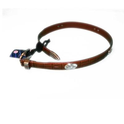 OLE MISS CROCO LEATHER BELT