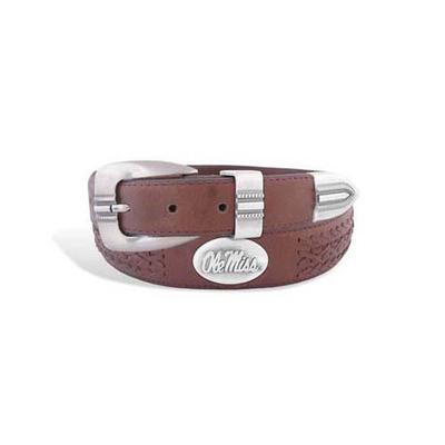 OLE MISS BRAIDED LEATHER BELT