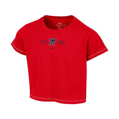 SS M HOTTY TODDY GIRLS CROP TEE RED