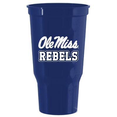 OLE MISS REBELS 32 OZ STADIUM NAVY