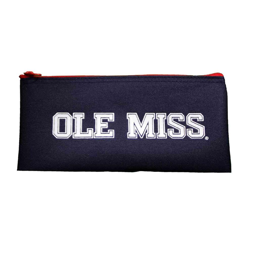 Navy Ole Miss Pencil Case