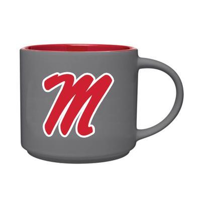 SCRIPT M GRAPHITE CAFE MUG