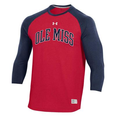OLE MISS UA GAMEDAY FADE LS TEE